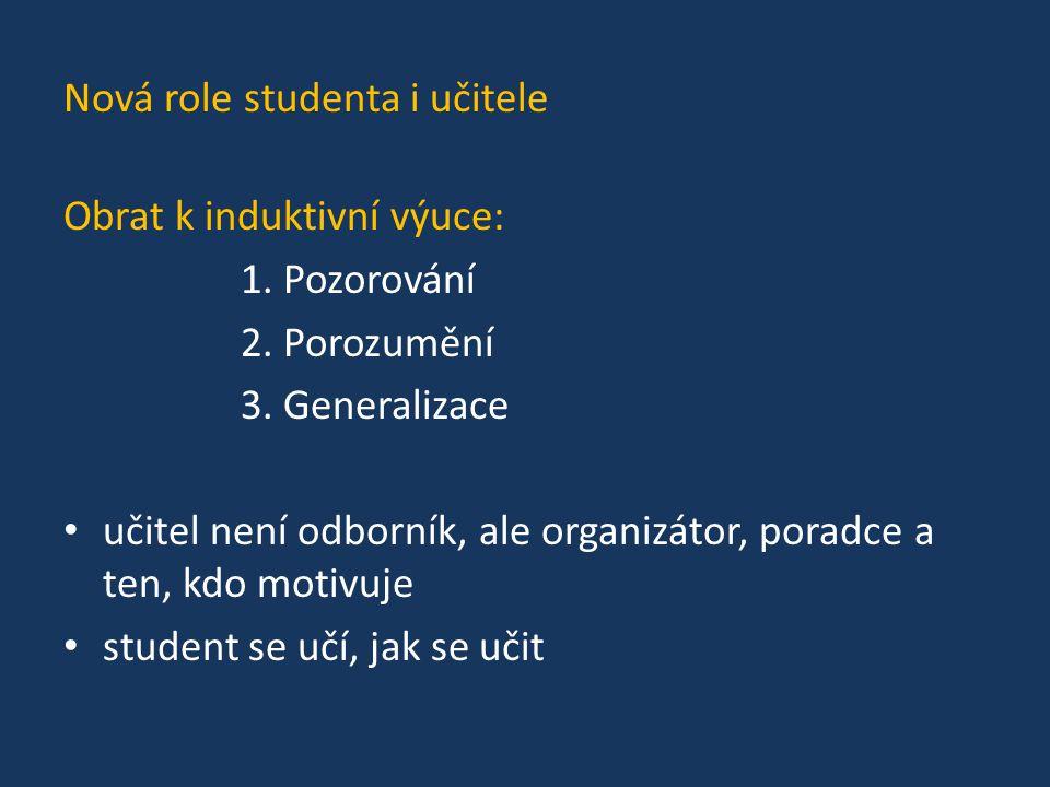 Nová role studenta i učitele