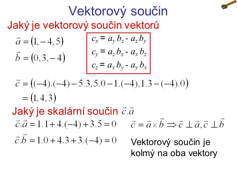 Jaký je vektorový součin vektorů