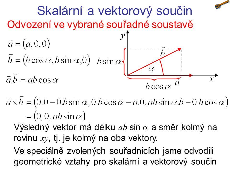 Skalární a vektorový součin