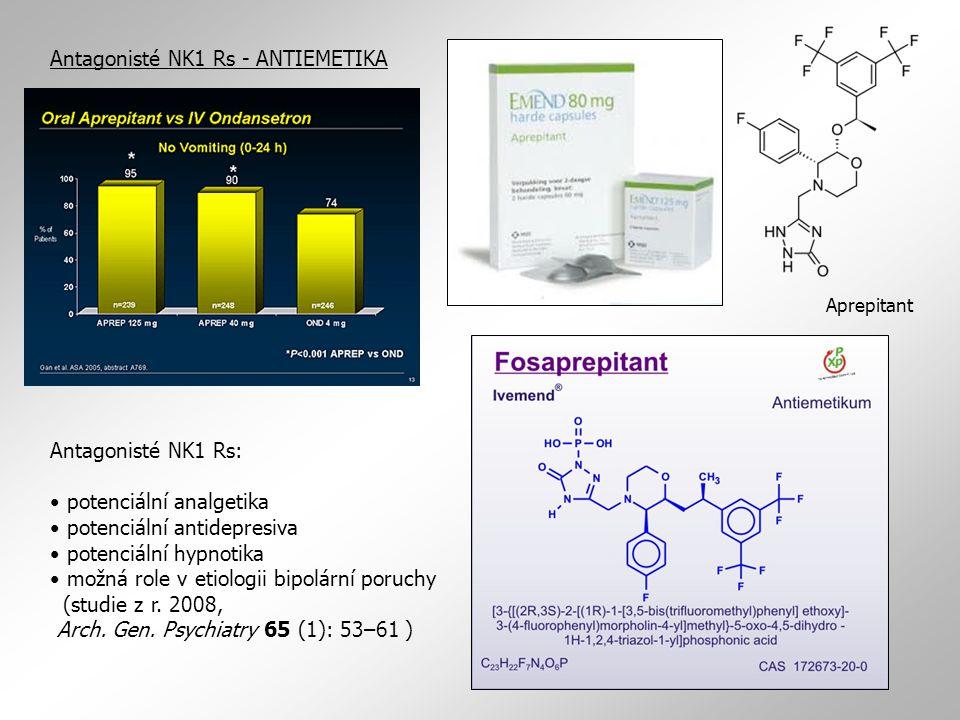 Antagonisté NK1 Rs - ANTIEMETIKA