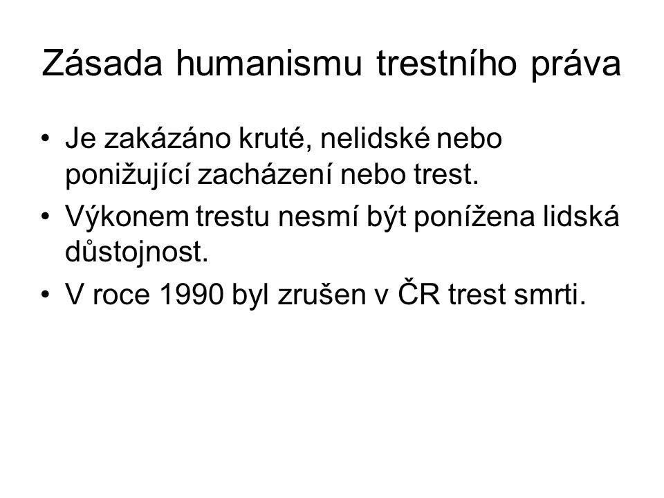 Zásada humanismu trestního práva