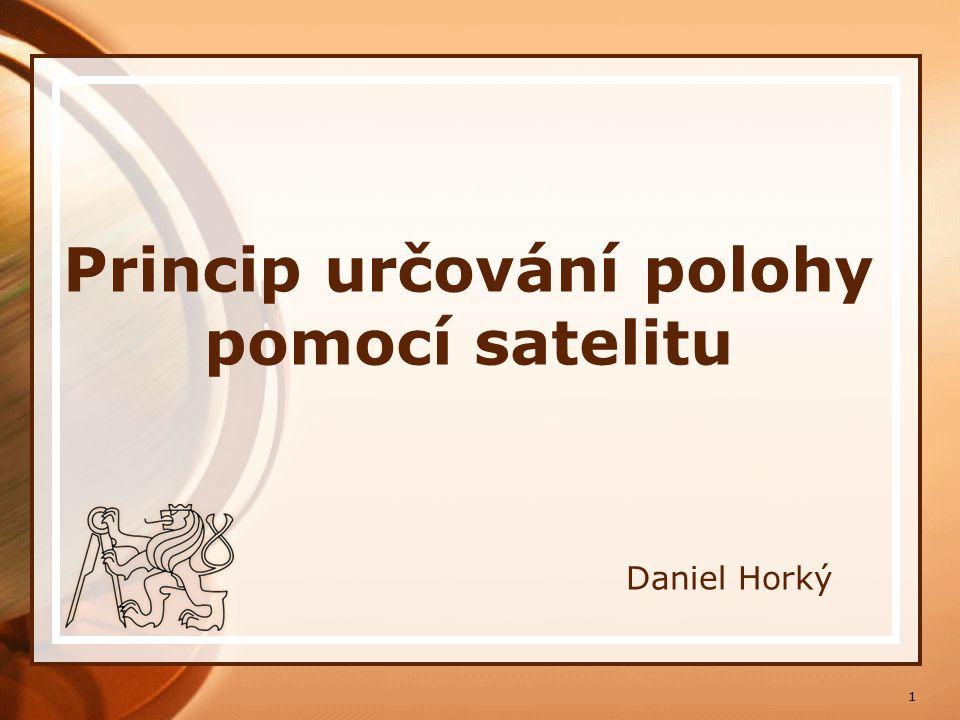 Princip určování polohy pomocí satelitu
