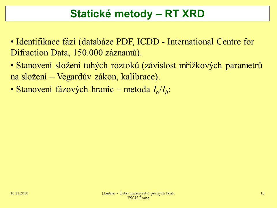 Statické metody – RT XRD