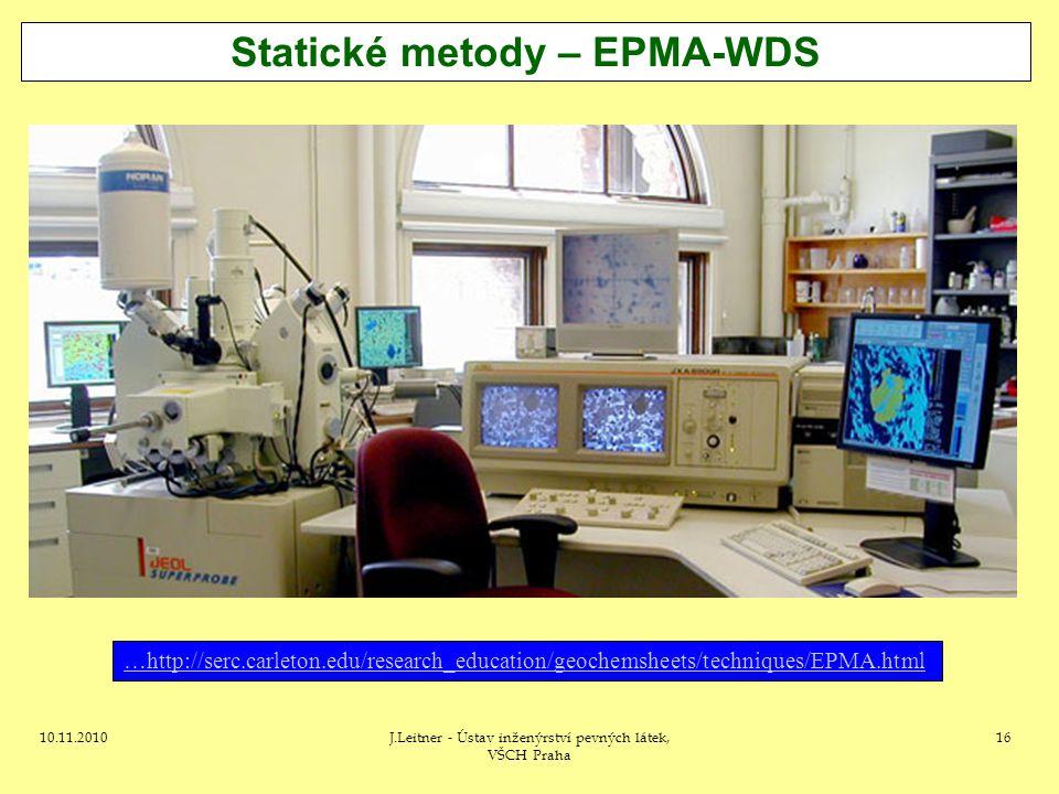 Statické metody – EPMA-WDS