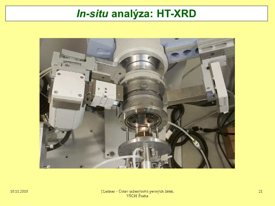 In-situ analýza: HT-XRD