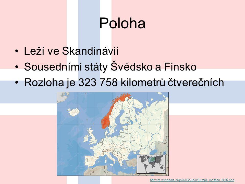 Poloha Leží ve Skandinávii Sousedními státy Švédsko a Finsko