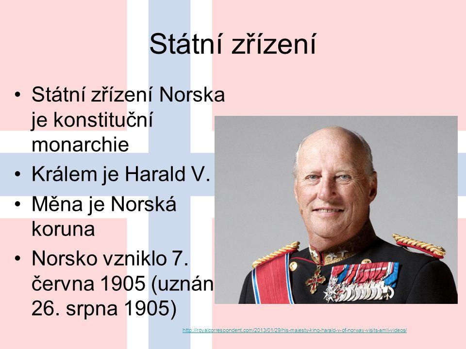 Státní zřízení Státní zřízení Norska je konstituční monarchie