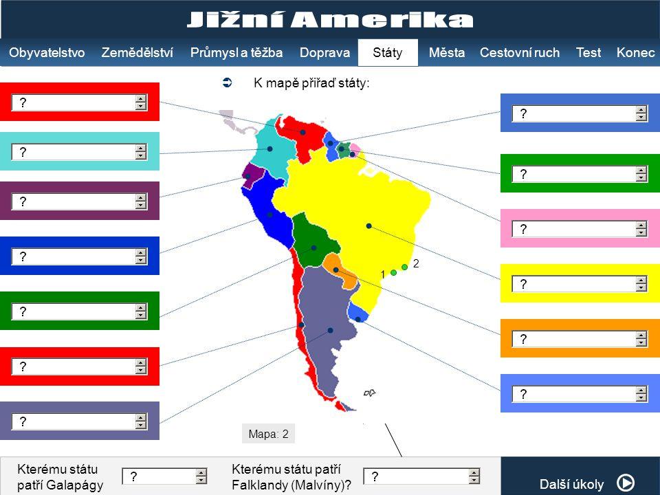 Jižní Amerika Obyvatelstvo Zemědělství Průmysl a těžba Doprava Státy