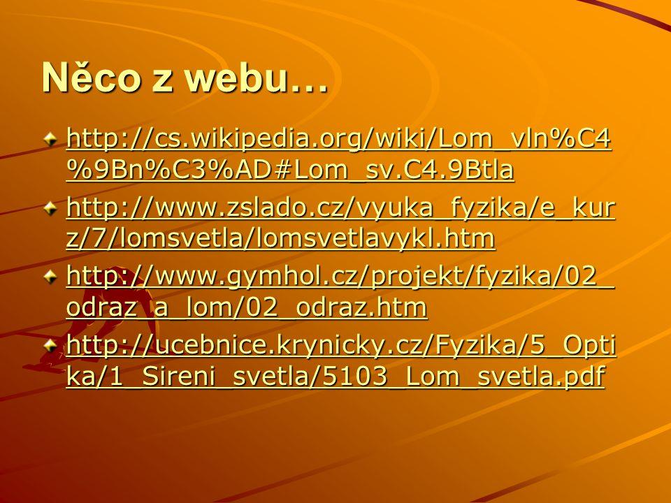 Něco z webu… http://cs.wikipedia.org/wiki/Lom_vln%C4%9Bn%C3%AD#Lom_sv.C4.9Btla.