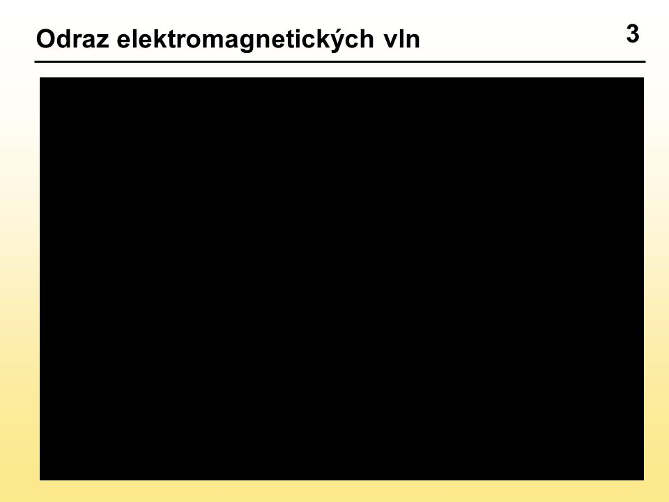 3 Odraz elektromagnetických vln