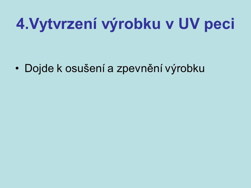 4.Vytvrzení výrobku v UV peci