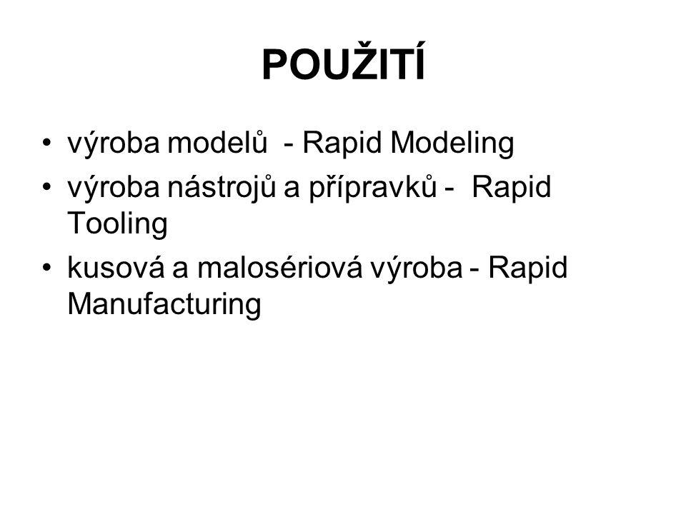 POUŽITÍ výroba modelů - Rapid Modeling