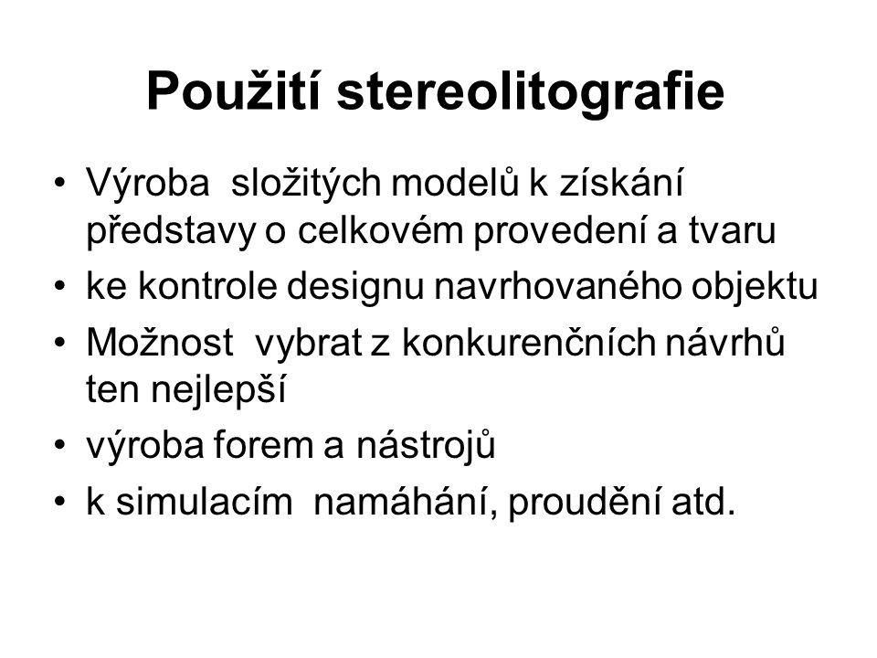 Použití stereolitografie