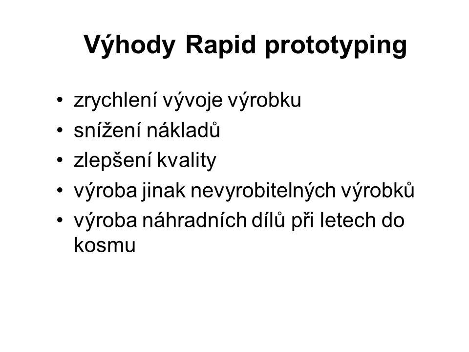 Výhody Rapid prototyping
