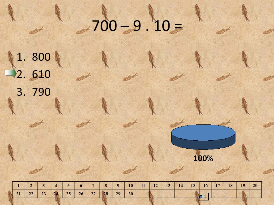 700 – 9 . 10 = 800. 610. 790. 1. 2. 3. 4. 5. 6. 7. 8. 9. 10. 11. 12. 13. 14. 15. 16.