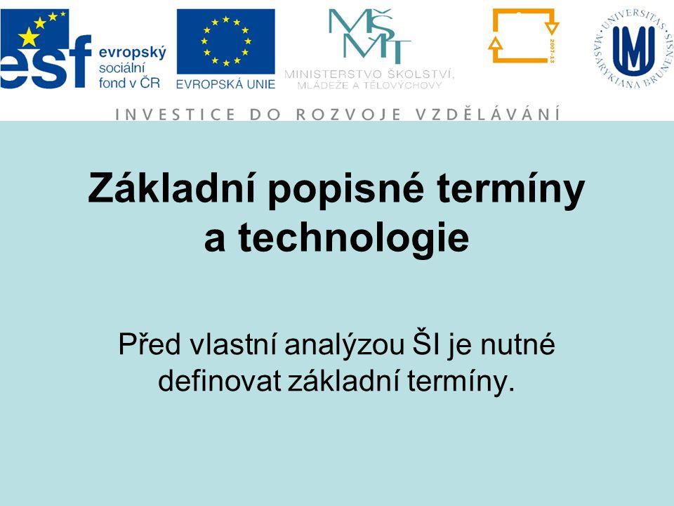 Základní popisné termíny a technologie