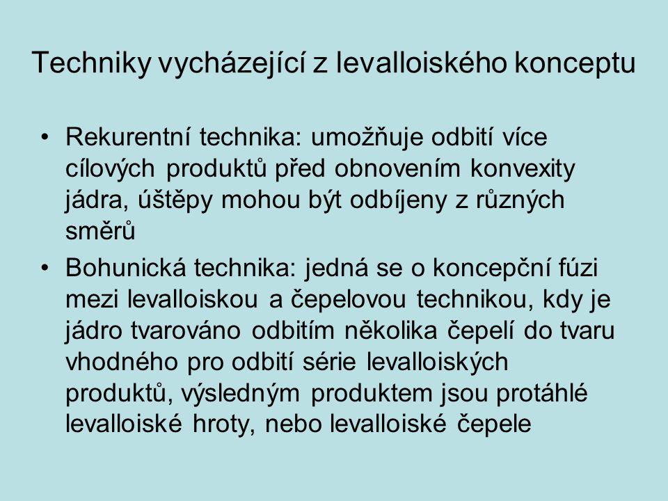 Techniky vycházející z levalloiského konceptu