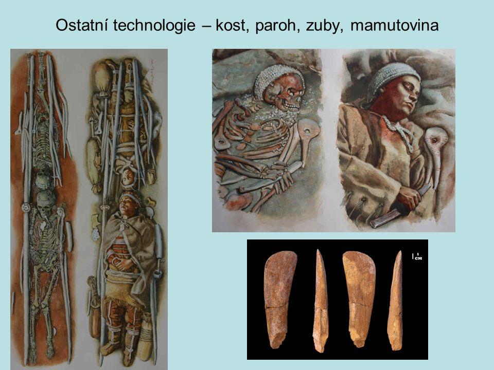 Ostatní technologie – kost, paroh, zuby, mamutovina