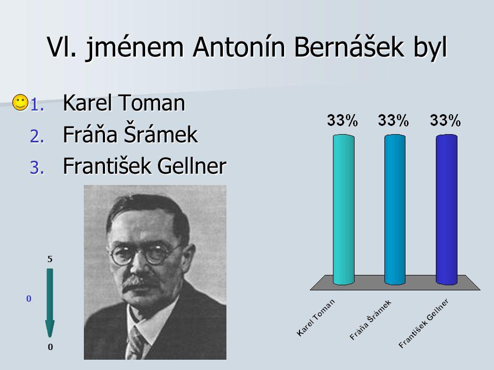 Vl. jménem Antonín Bernášek byl