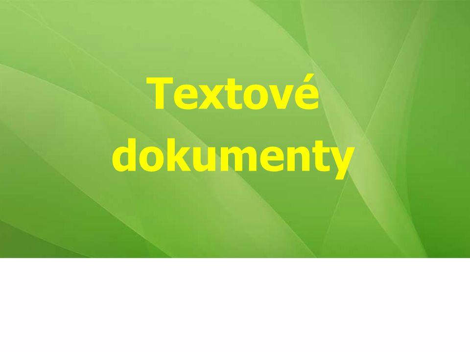 Textové dokumenty