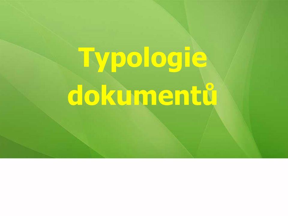 Typologie dokumentů