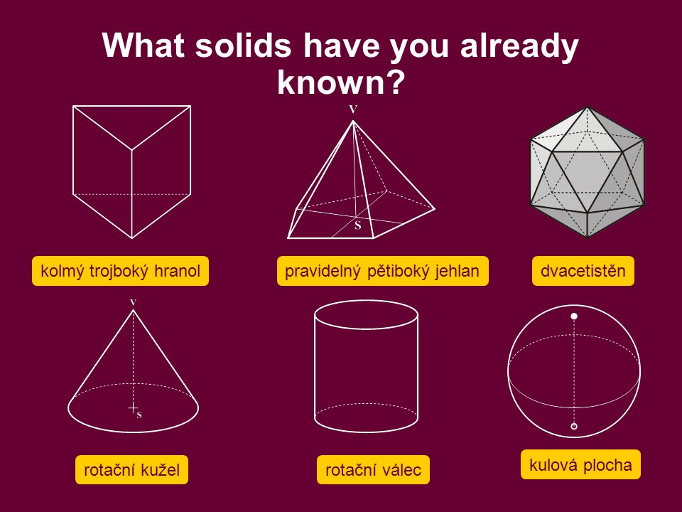 What solids have you already known