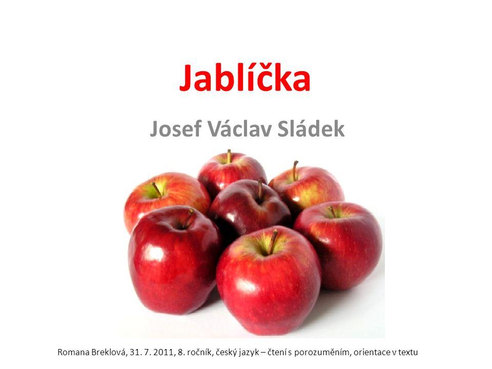 Jablíčka Josef Václav Sládek