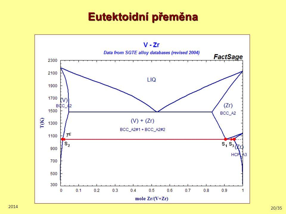 Eutektoidní přeměna 2014