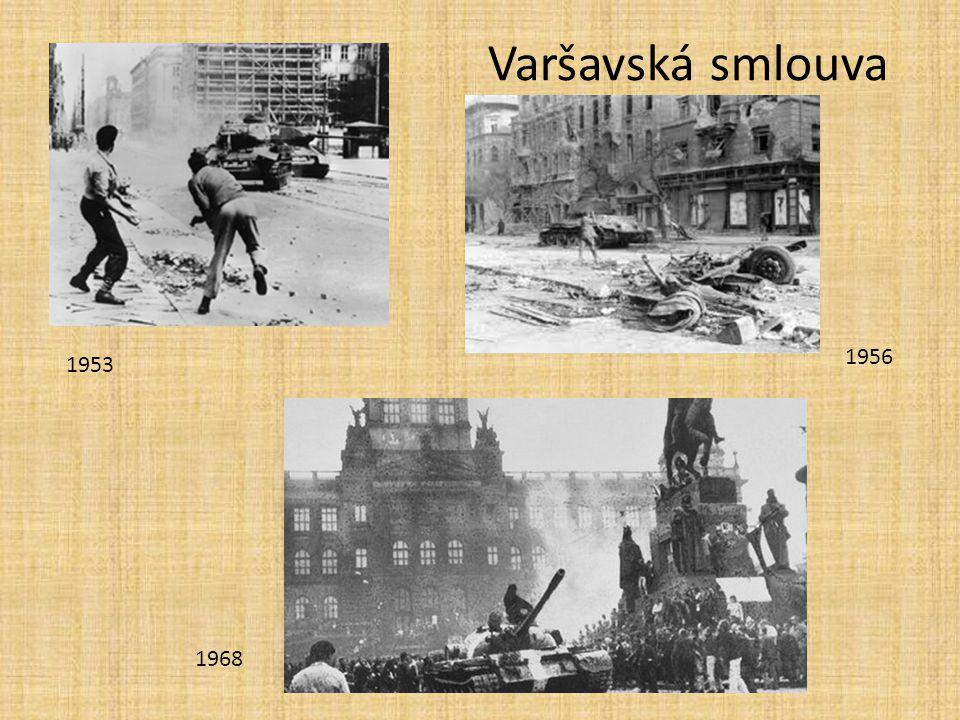 Varšavská smlouva 1956 1953 1968