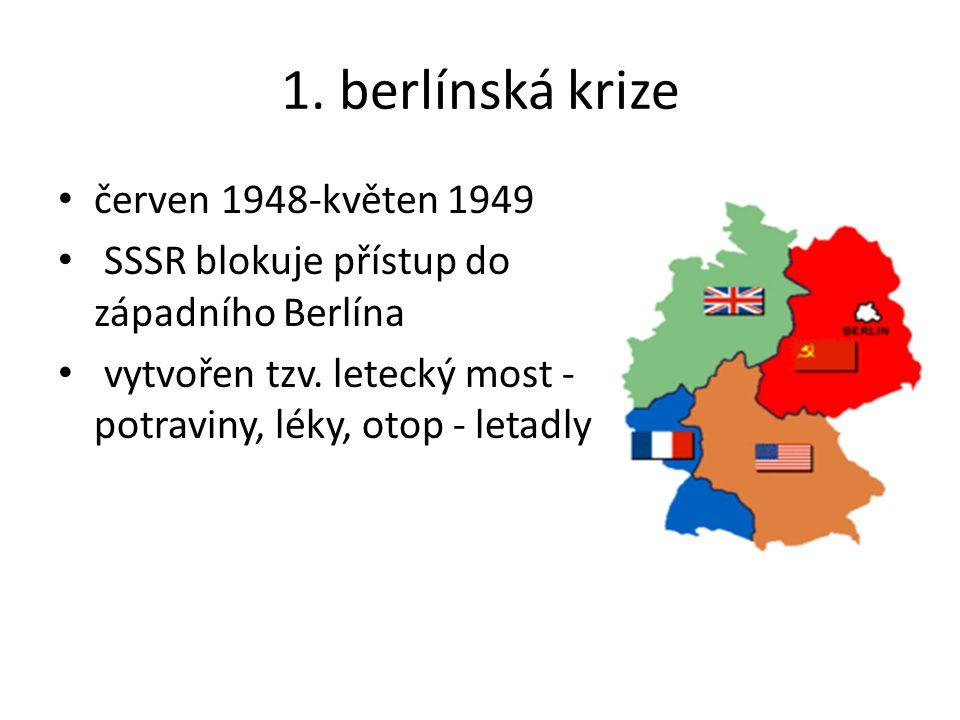 1. berlínská krize červen 1948-květen 1949
