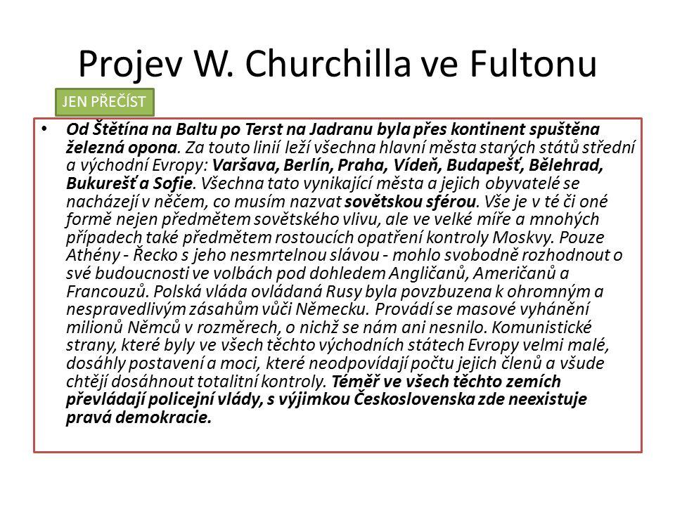 Projev W. Churchilla ve Fultonu