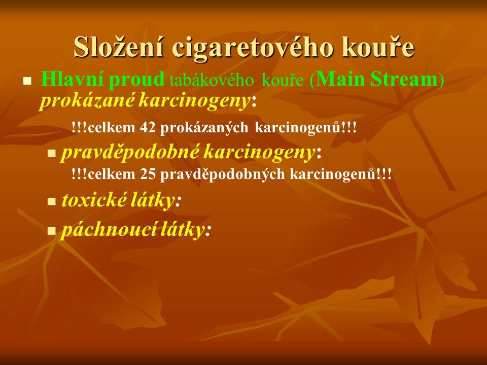 Složení cigaretového kouře