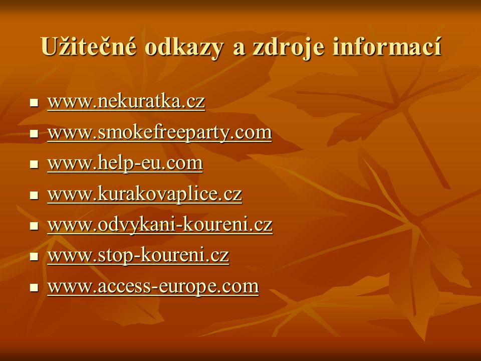 Užitečné odkazy a zdroje informací