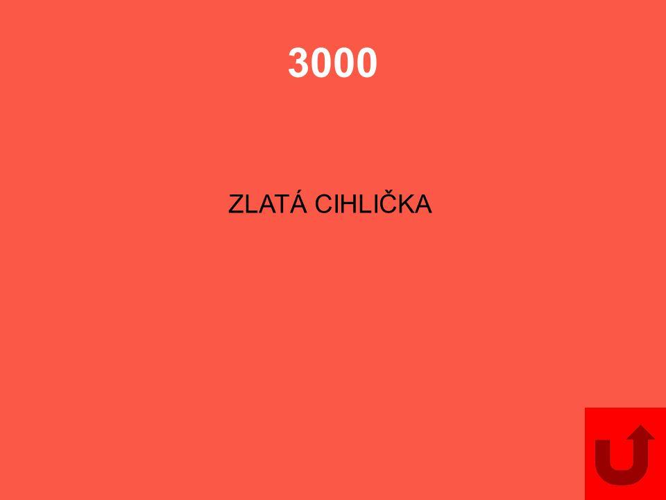 3000 ZLATÁ CIHLIČKA