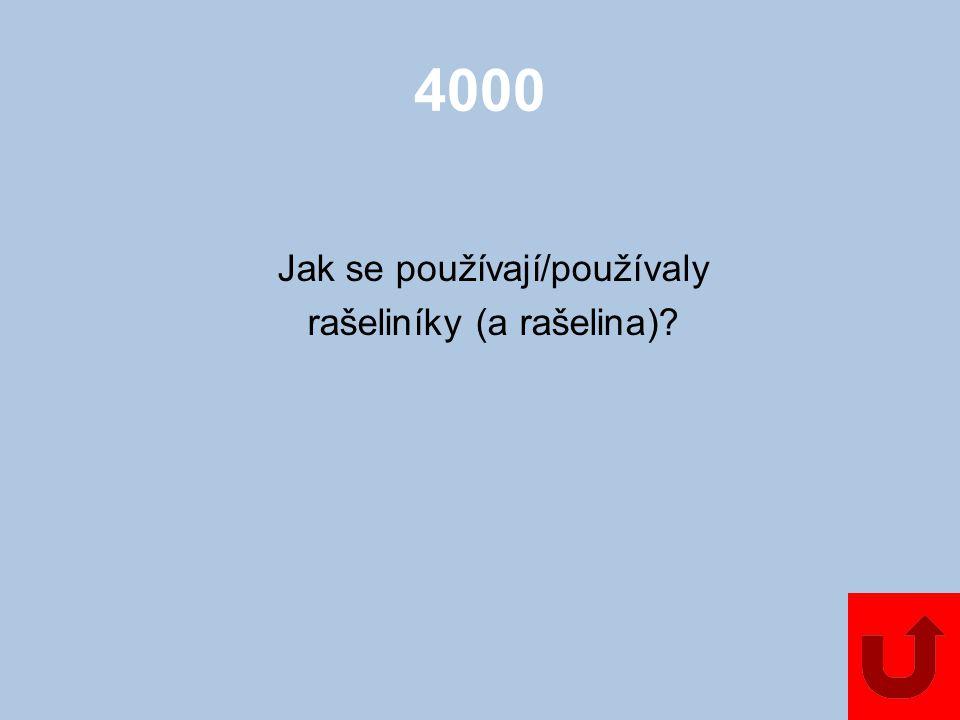 4000 Jak se používají/používaly rašeliníky (a rašelina)