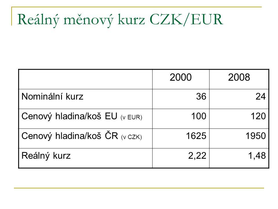 Reálný měnový kurz CZK/EUR