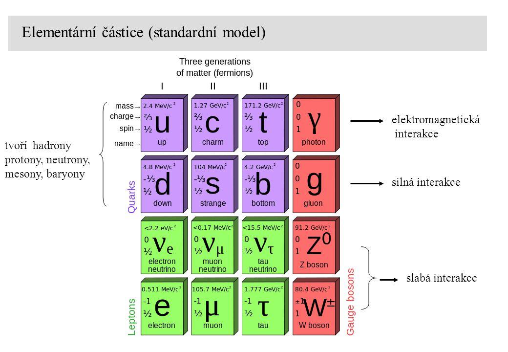Elementární částice (standardní model)
