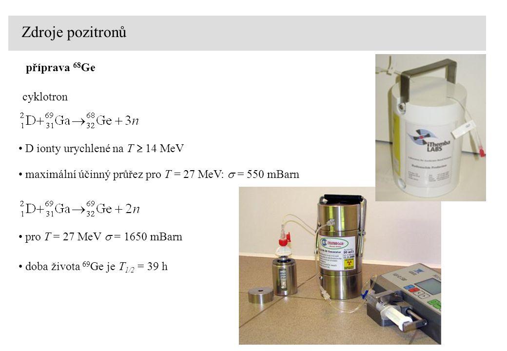 Zdroje pozitronů příprava 68Ge cyklotron