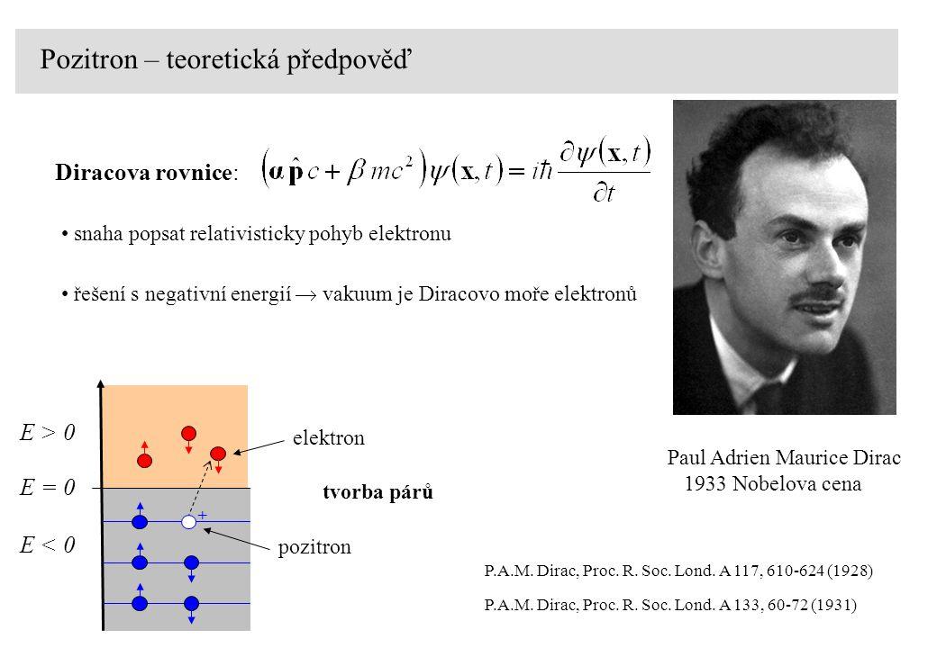 Pozitron – teoretická předpověď