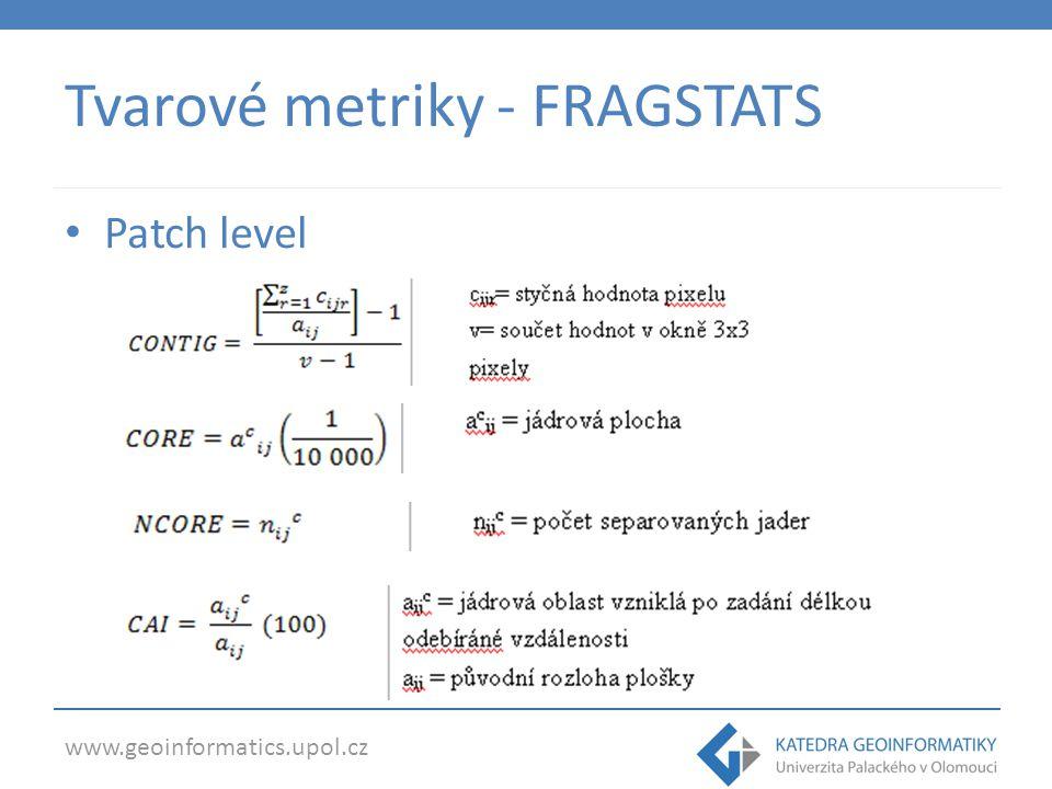 Tvarové metriky - FRAGSTATS