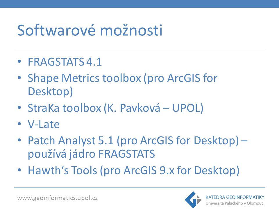 Softwarové možnosti FRAGSTATS 4.1