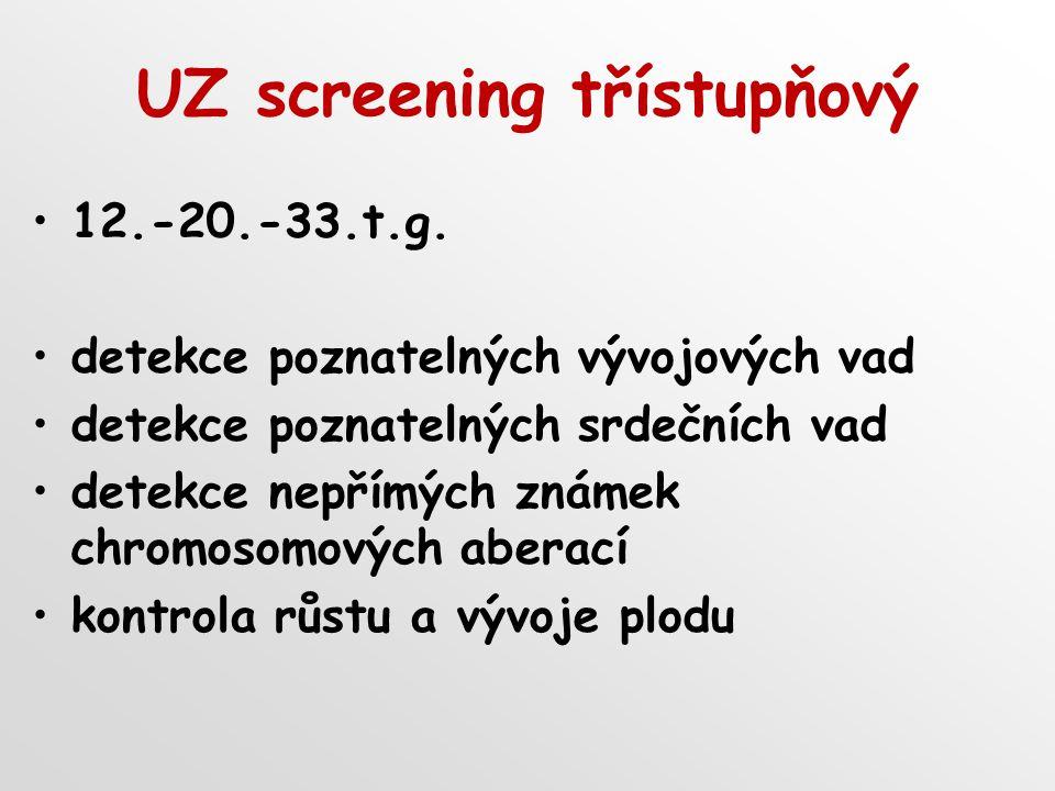UZ screening třístupňový
