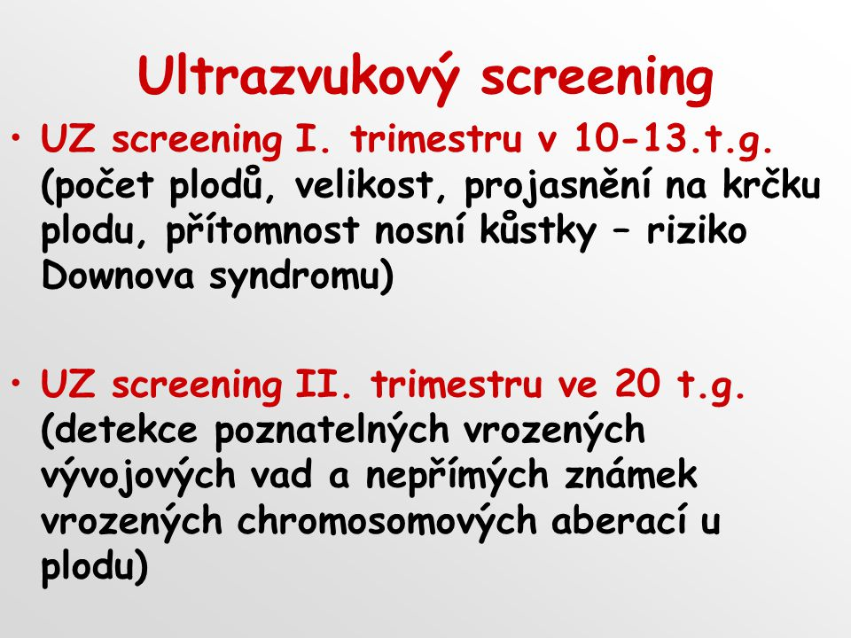 Ultrazvukový screening