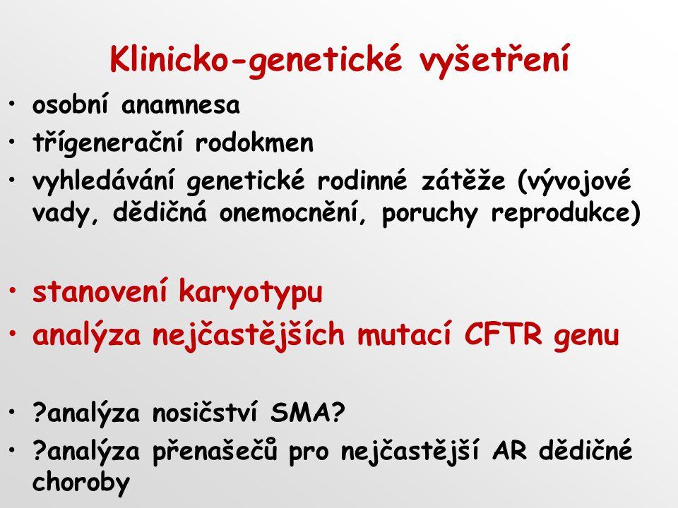 Klinicko-genetické vyšetření