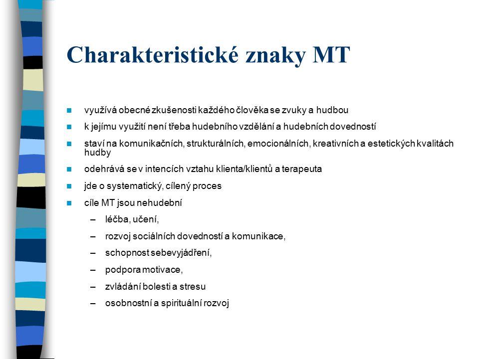 Charakteristické znaky MT