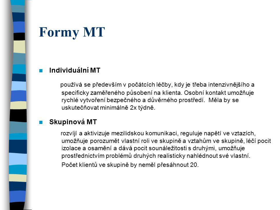 Formy MT Individuální MT.