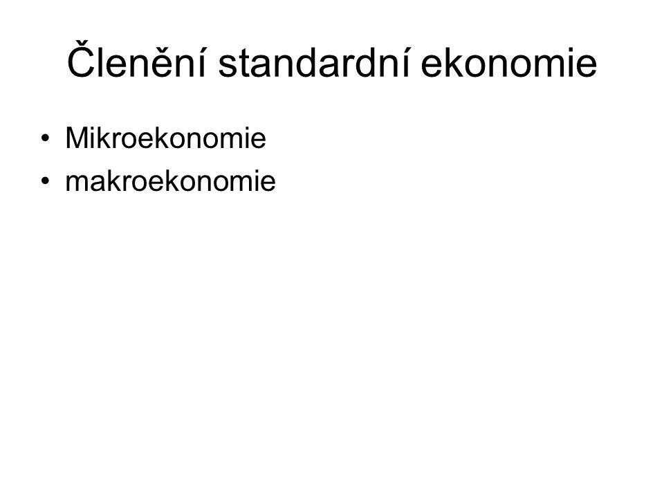 Členění standardní ekonomie