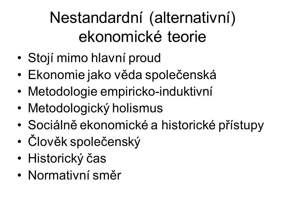 Nestandardní (alternativní) ekonomické teorie