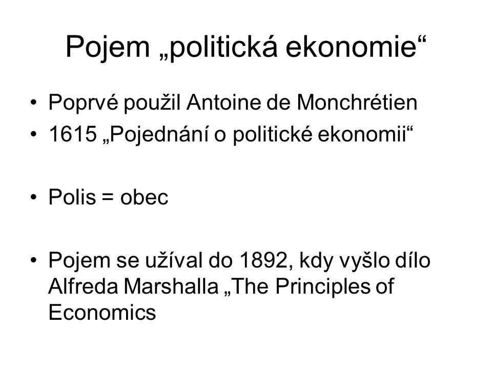 """Pojem """"politická ekonomie"""