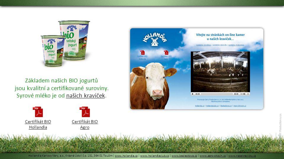 Certifikát BIO Hollandia